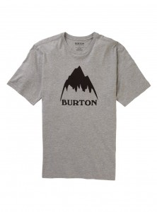 Koszulka Burton Classic Mountain Gray Heather